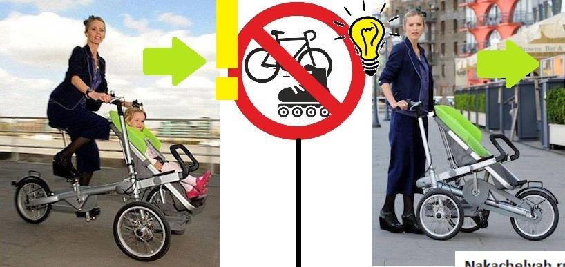 коляска велосипед для двойни taga пропустят где угодно