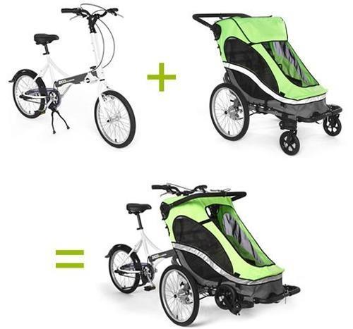 составные части zigo это велосипед и велоколяска для мамы и ребенка