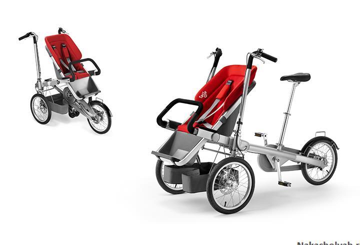 коляска велосипед для двойни Taga