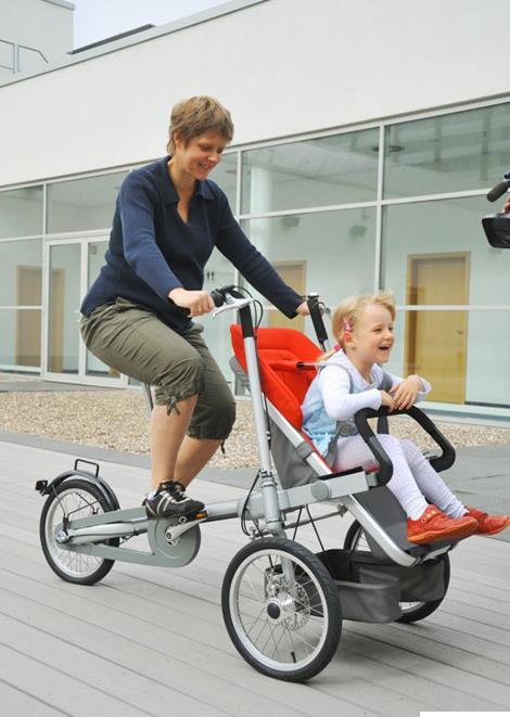 велосипед коляска для мамы и ребенка
