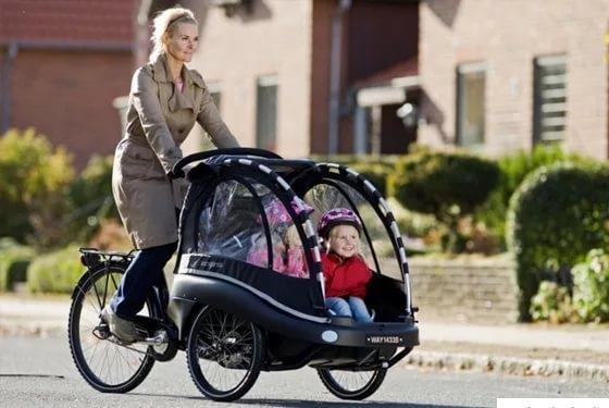коляска велосипед для двойни