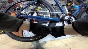 Снятие цепи с велосипеда