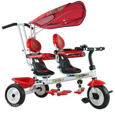 Велосипед для двойни Toys - супер Трешка
