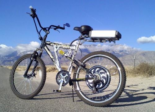 установка мотор колеса на велосипед фото (2)