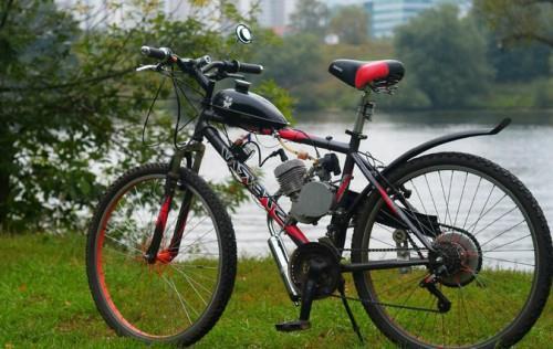 как поставить на велосипед мотор фото