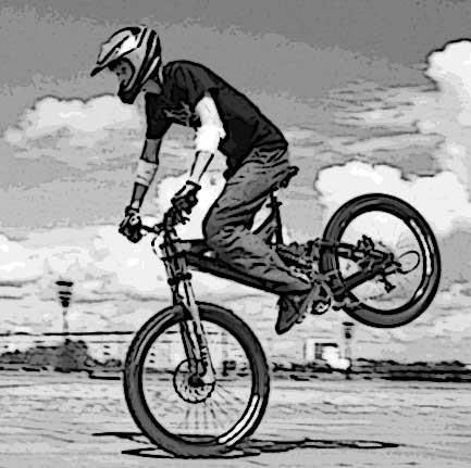 техника правильного торможения на велосипеде