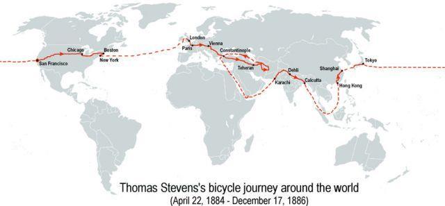 путешествие Томаса Стивенса
