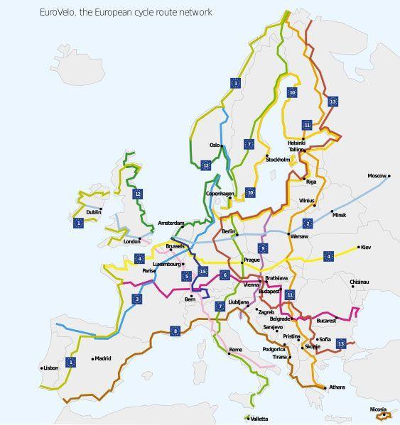 сеть EuroVelo