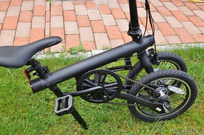 Велосипед почти сложен