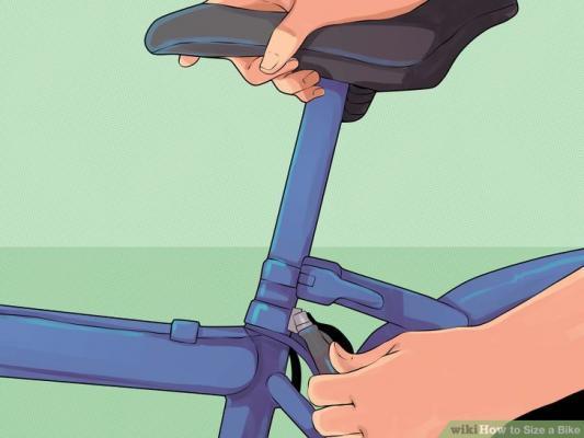 регулировка высоты сидения велосипеда