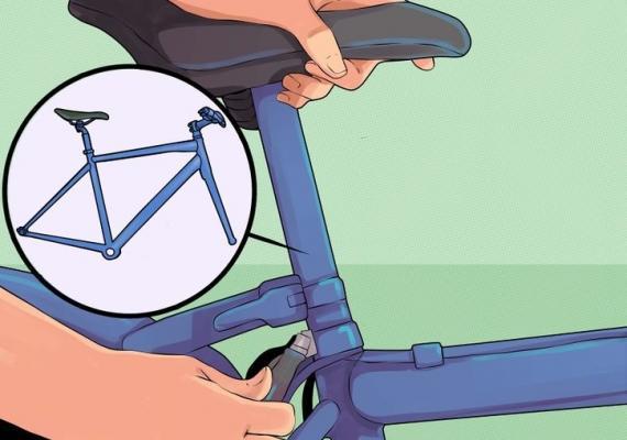 регулировка велосипедного сиденья