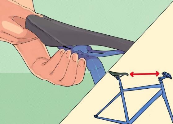 регулировка расстояния от сиденья велосипеда до руля