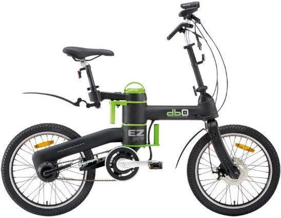 Складной велосипед с электродвигателем