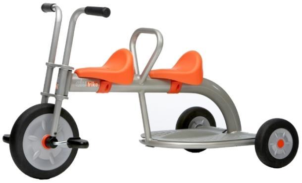 Детский велосипед Italtrike 2002 Alutrike 2 Seats, тандем для двойни