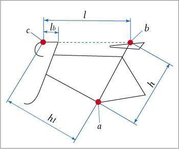 Схема размеров велосипеда
