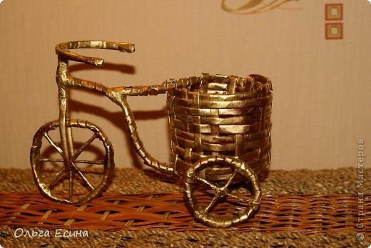 Кашпо велосипед из газетных трубочек своими руками мастер класс - Nastolnyje-nabory.ru
