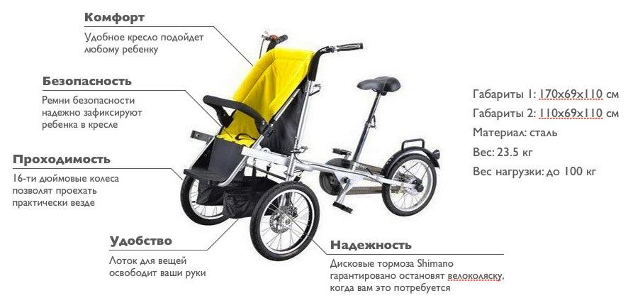 вело коляска трансформер