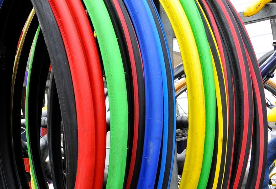 Цветные велосипедные покрышки