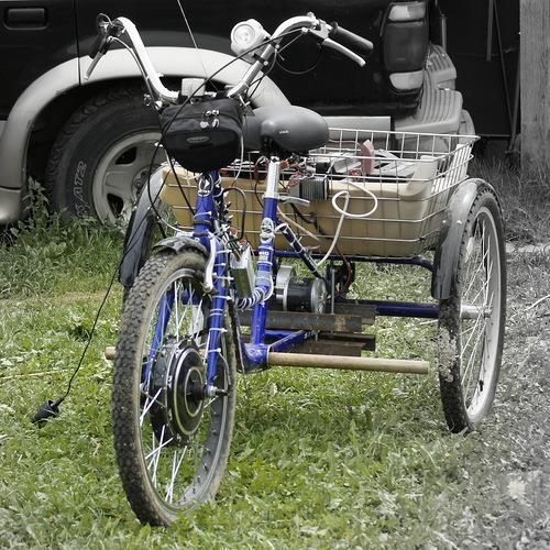 Устройство заднего моста трехколесного велосипеда