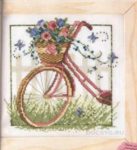 схема вышивки дамский велосипед