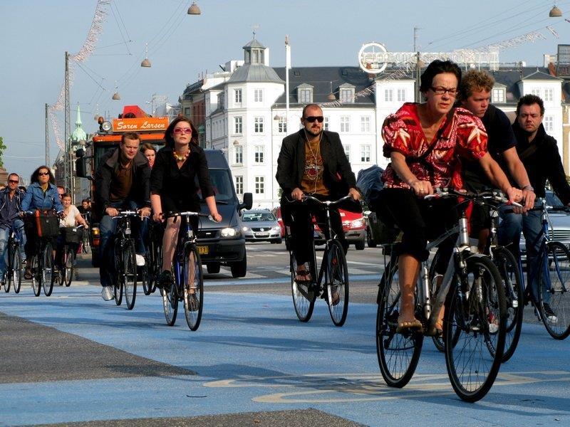 велосипедный транспорт в Дании
