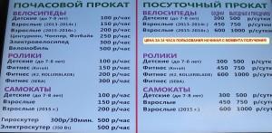 Цены прокат ВДНХ_