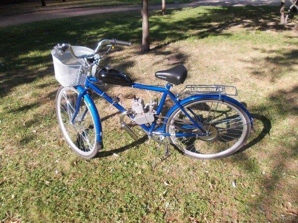 Самодельный мопед из велосипеда