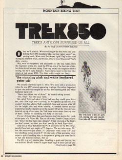 Велосипед Trek 850