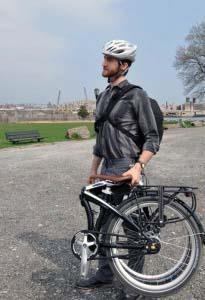 Велосипед Tern в сложенном состоянии