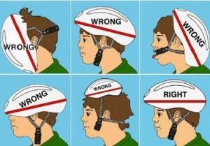 правильно одеть шлем
