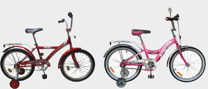 Велосипеды для детей от 5 до 9 лет.
