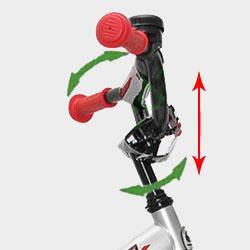 Регулировки руля детского велосипеда