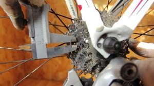 Измерение износа велосипедной цепи