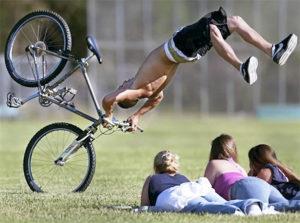 Усиленное торможение на велосипеде