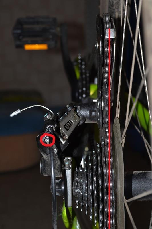 Положение шестерен при настройке скоростей велосипеда