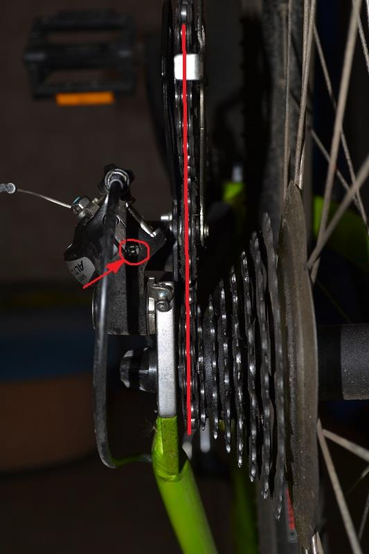 положение шестерней при настройке переключателя скоростей на велосипеде